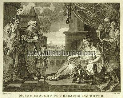 William Hogarth, Moses brought to Pharaoh's Daughter (Cook small)