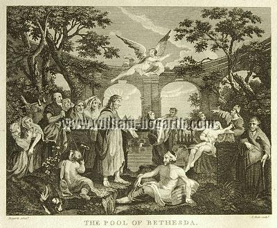 William Hogarth, Pool of Bethesda (Cook small)