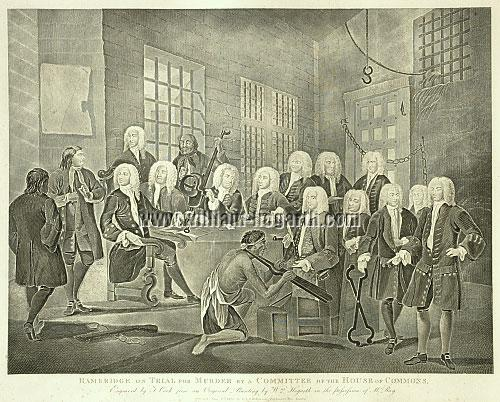 William Hogarth, Bambridge on Trial for Murder (Cook)