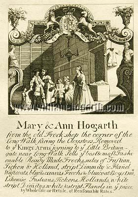 William Hogarth, Mary & Ann Hogarth from the old Frock shop