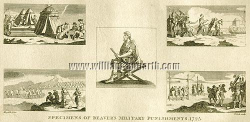 William Hogarth, Specimens of Beaver's Military Punishments