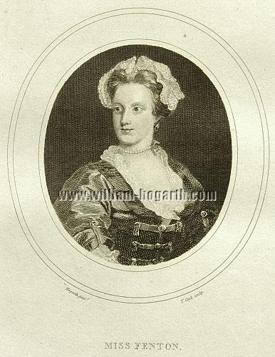William Hogarth, Miss Lavinia Fenton, later Duchess of Bolton, the original Polly Peachum of Gay's Beggar's Opera