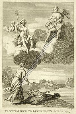 William Hogarth, Frontispiece to Leveridge's Songs, 1727