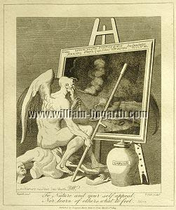 William Hogarth, The Time Smoking a Picture (Cook small)
