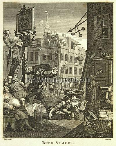 William Hogarth, Beer Street