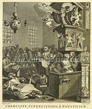 William Hogarth, Credulity, Superstition, and Fanatism