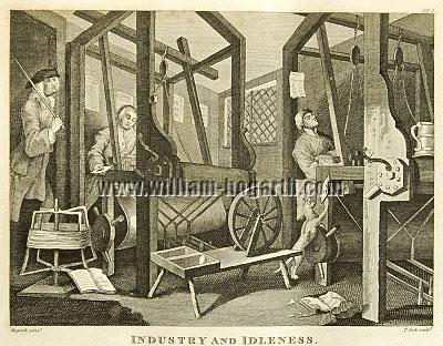 William Hogarth, Industry + Idleness I