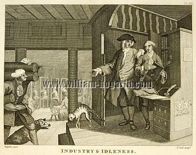 William Hogarth, Industry + Idleness IV
