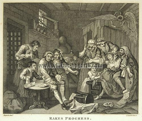 William Hogarth, Rakewell in Schuldhaft