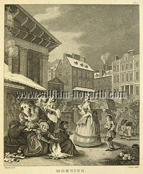 William Hogarth, The Times of the Day: Morning