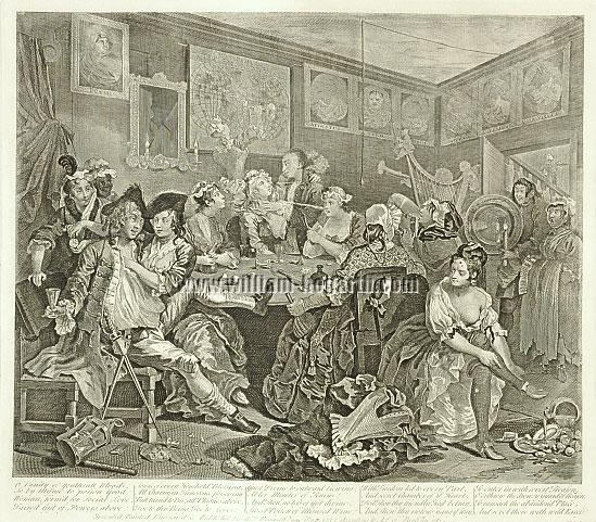William Hogarth, The Tavern Scene (A Rake's Progress III)