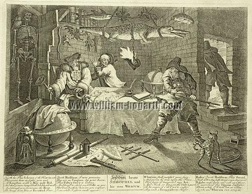 William Hogarth, Hudibras beats Sidrophel