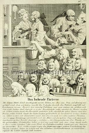 William Hogarth, Laughing Audience (lithograph)