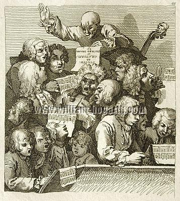 William Hogarth, Rehearsal of the Oratorio Judith (Die Singprobe; Riepenhausen)
