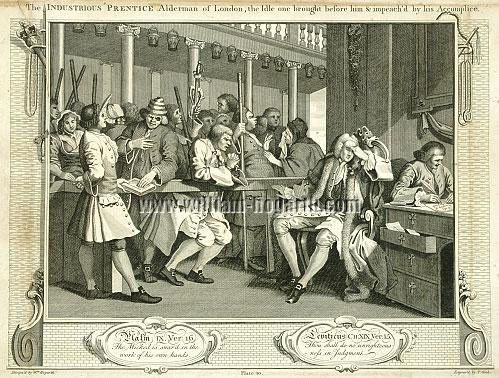 William Hogarth, Tom Idle at the Police Court (Cook)