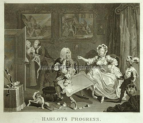 William Hogarth, Jew Protector (Harlot II)