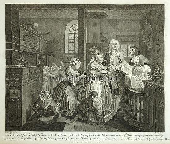 William Hogarth, Rakewell marries an Old Maid (Cook)