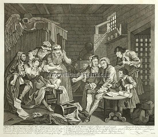 William Hogarth, Im Schuldturm (Cook)