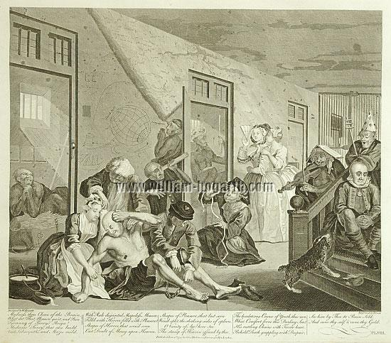 William Hogarth, In a Madhouse (Cook)