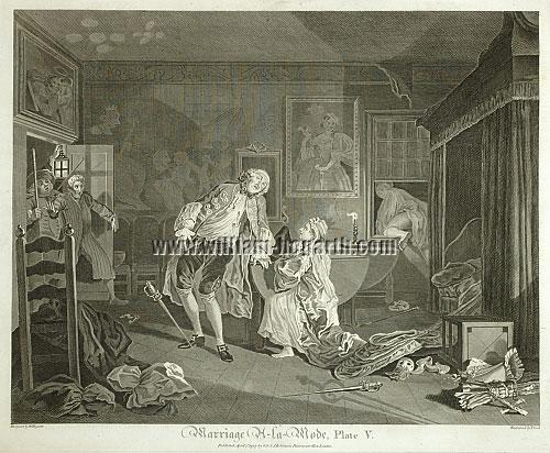 William Hogarth, Killing of Earl Squanderfield (Cook)