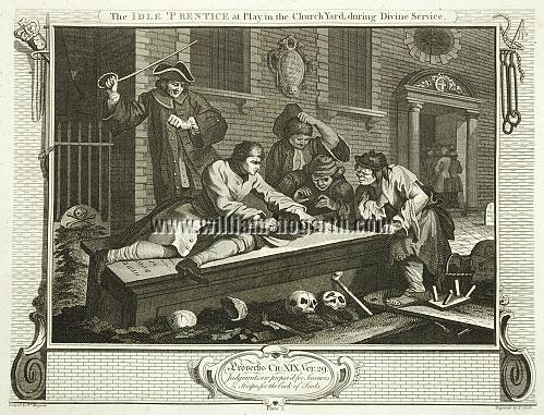 William Hogarth, Idle 'Prentice at Play