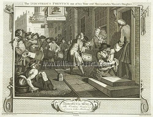 William Hogarth, Goodchild married to his Master's Daughter (Cook)