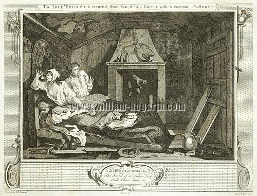 William Hogarth, Faulhans Gespenster sehend (Cook)
