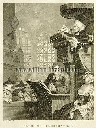 William Hogarth, Sleeping Congregation (Cook)