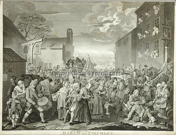 William Hogarth, March to Finchley (Cook)