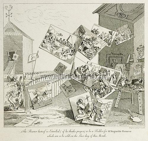 William Hogarth, Battle of the Pictures (Cook)