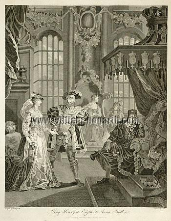 William Hogarth, Henry the Eighth + Anna Boleyn (Cook)