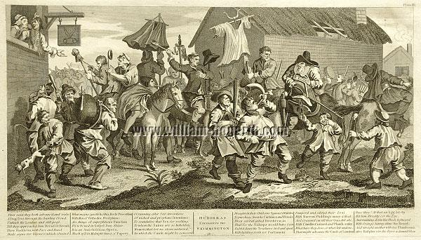 William Hogarth, Hudibras encounters the Skimmington (Cook)