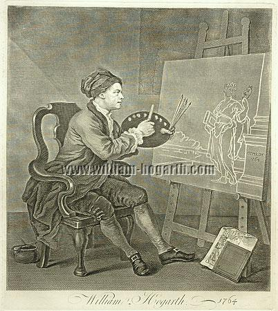 William Hogarth, Painting the Comic Muse