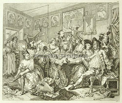 William Hogarth, Tavern Scene (A Rake's Progress III; Rahl)