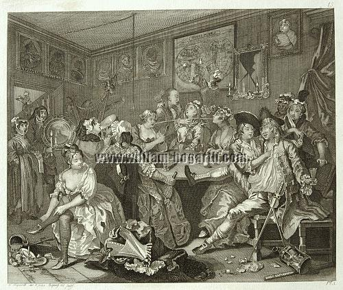 William Hogarth, The Tavern Scene (Riepenhausen)