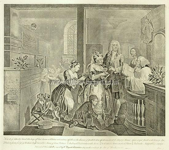 William Hogarth, Rakewell marries an Old Maid