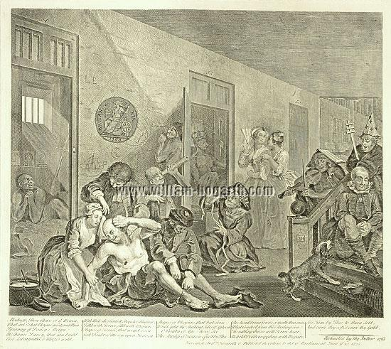 William Hogarth, In a Madhouse