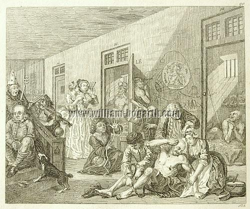 William Hogarth, Scene in a Madhouse (Rake's Progress VIII; Rahl)