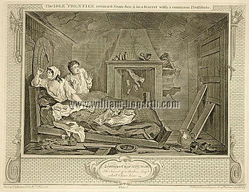 William Hogarth, Faulhans Gespenster sehend