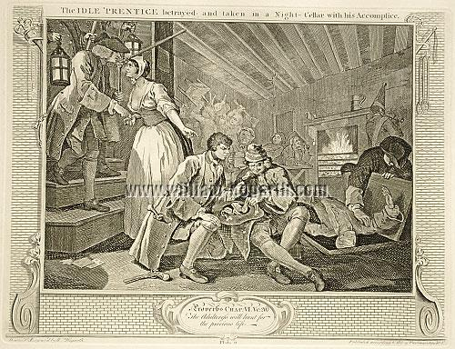 William Hogarth, Tom Idle betrayed by a Whore and taken