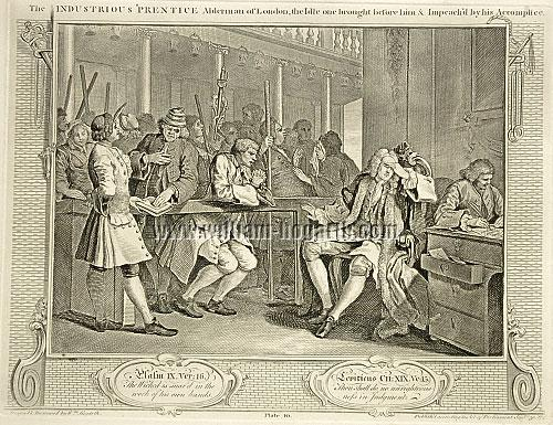 William Hogarth, Tom Idle at the Police Court