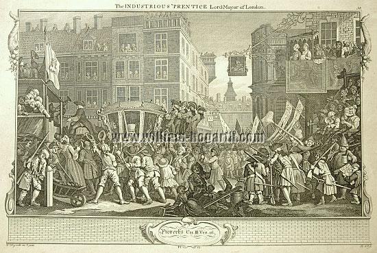 William Hogarth, Gutkind Oberbürgermeister von London (Industry + Idleness XII; Riepenhausen)