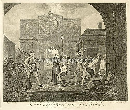 William Hogarth, The Gate of Calais (Roast Beef of Old England)