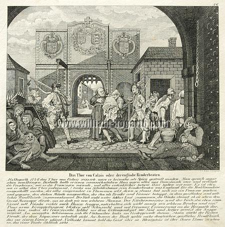 William Hogarth, The Gate of Calais (Roast Beef of Old England; lithograph)