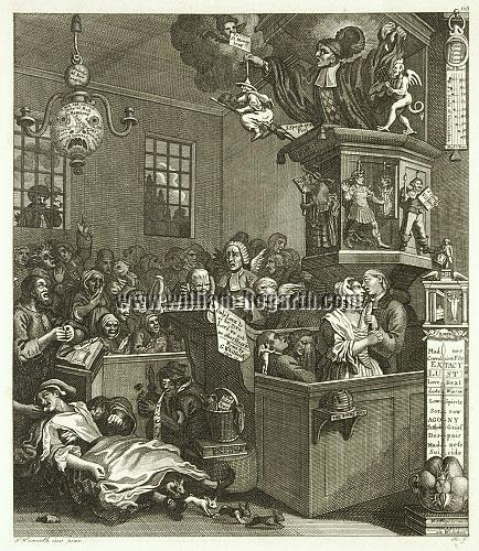 William Hogarth, Credulity, Superstition and Fanaticism (Riepenhausen)