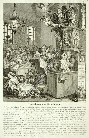 William Hogarth, Credulity, Superstition and Fanaticism (lithograph)