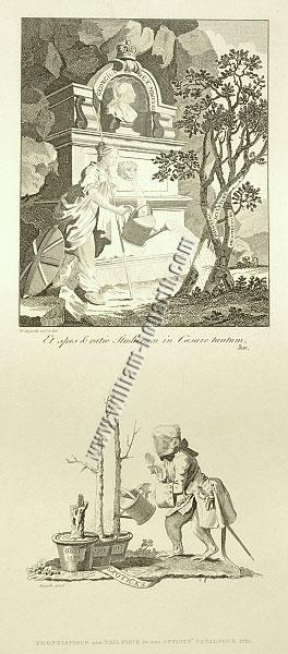 William Hogarth, Frontispiece + Tail Piece to the Artist's Catalogue 1761