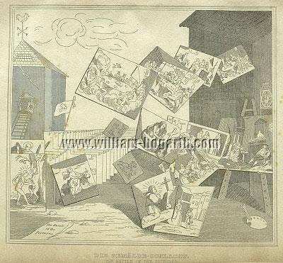 William Hogarth, Battle of the Pictures (Stahlstich)