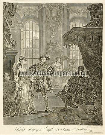 William Hogarth, King Henry the Eighth + Anna Boleyn