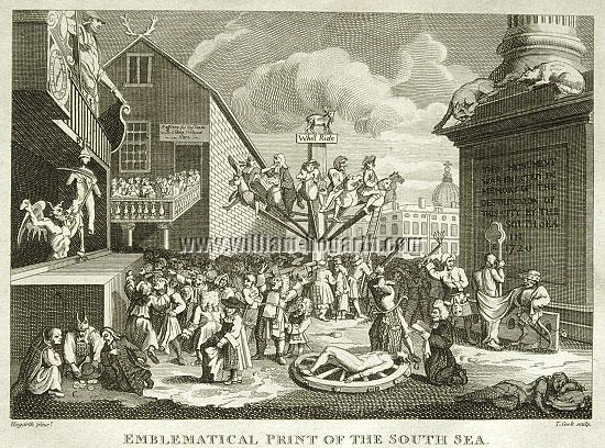 William Hogarth, Emblematical Print of the South Sea